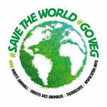 Adesivo Save the world, go veg!